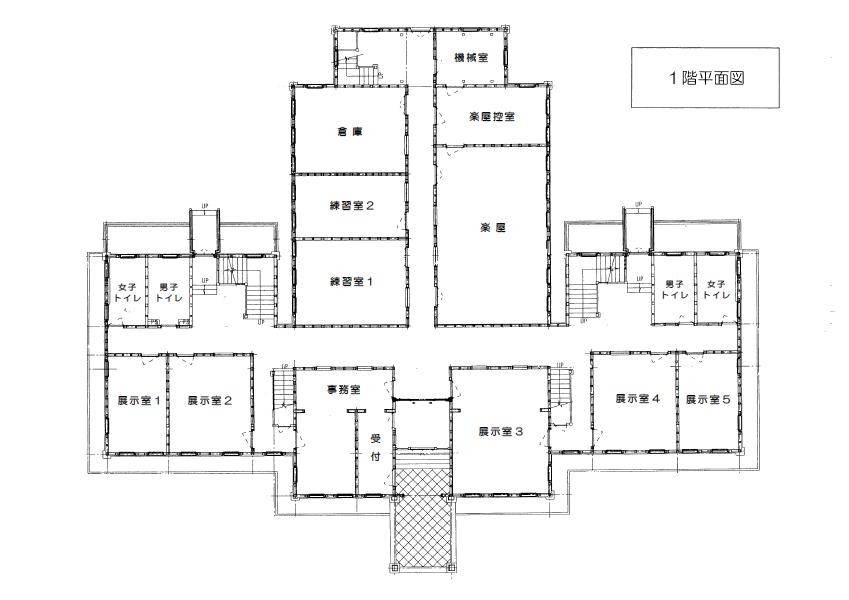 奏楽堂1階図面